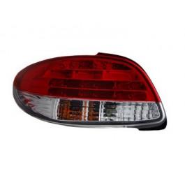 Achterlichten (set) LED Rood/Wit (niet voor CC) voor Peugeot  - 206 BJ: 1998-2009