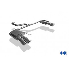 FOX Einddemper 2x80 Type 25 rechts/links SE042103-290 voor Seat - Leon 5F ST - Cupra 2.0l 195/206kW -