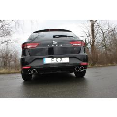 FOX Einddemper 2x90 Type 16 rechts/links SE042113-132 voor Seat - Leon 5F ST - Met Starre achteras: 1.2l 63/77kW  1.4l 90/103kW  1.8l 132kW -